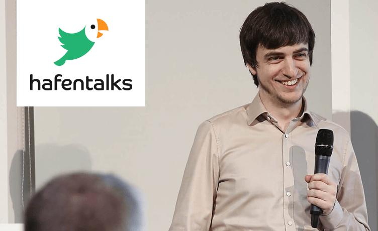 """hafentalks #4: Konstantin Haase - """"Wie wir Gehaltsverhandlungen durch eine Sinatra-App ersetzt haben"""""""